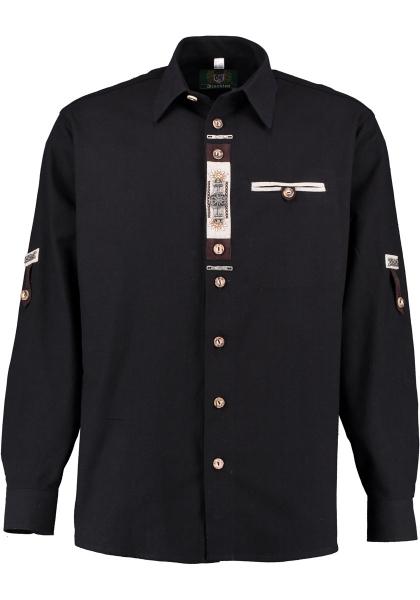 Trachtenhemd Kalteneck schwarz Krempelarm OS Trachten