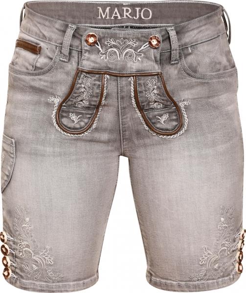 Trachtenjeans Franziska grau Jeans- Bermuda Marjo