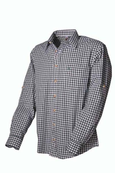 Trachtenhemd Ludwig dunkelgrün OS Trachten