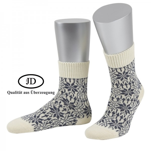 Norwegersocken Socken Marksteft natur grau JD