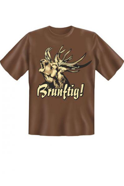 Trachtenshirt Brunftig braun T-Shirt