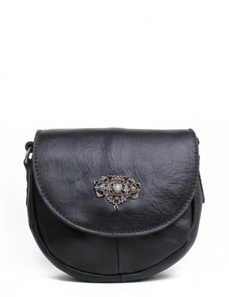 Trachten Handtasche Nabburg schwarz Leder