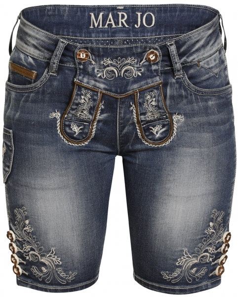 Trachtenjeans Franziska blau Jeans- Bermuda Marjo