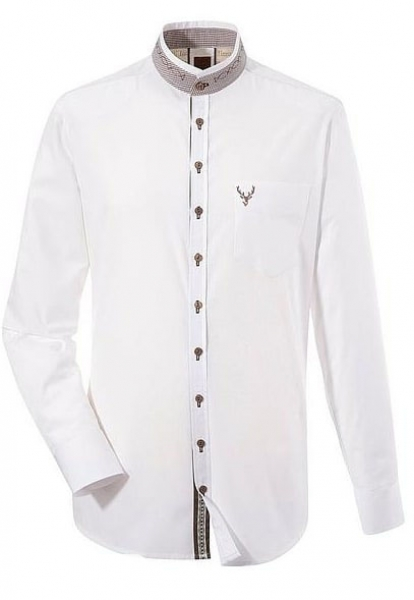 Trachtenhemd Bruckberg weiß lang OS Trachten