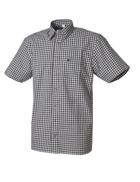 Trachtenhemd Alfons dunkelgrün Kurzarm OS Trachten