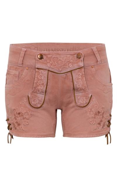 Trachtenjeans Ovida altrosa Jeans-Shorts Hangowear