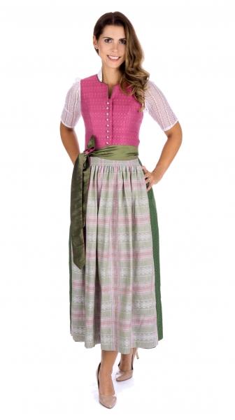 Dirndl Designerdirndl lang 90 cm Gerolfingen rosa grün BayerMadl