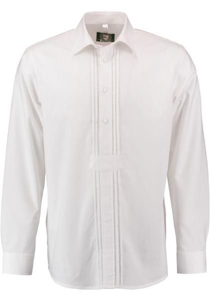 Trachtenhemd Mehlmeisel weiß Langarm Schlupfform OS Trachten