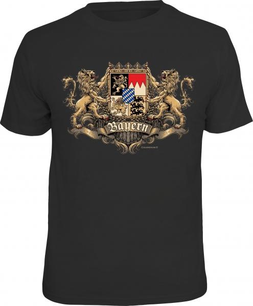Trachtenshirt Wappen Bayern schwarz T-Shirt