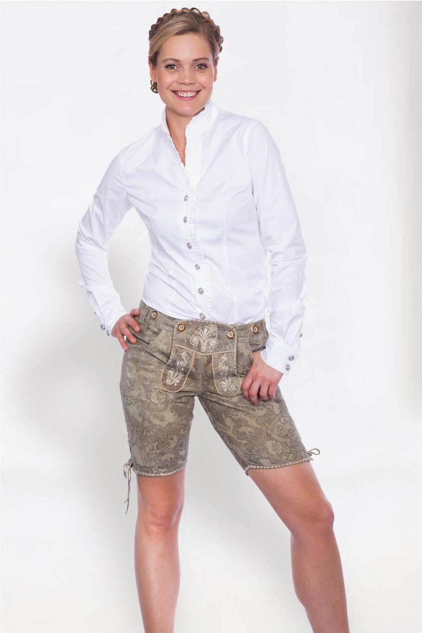 fc4e5522c372 Lederhose Miltach kurz natur Krüger   Lederhosen   Shorts   Damen    Trachtenoutlet-xxl.de