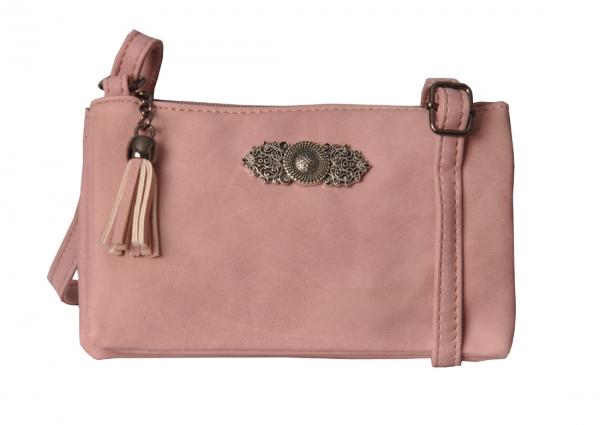 Trachtentasche Dirndltasche Ortenburg rosa Wolkenweis