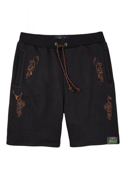 B-Ware / 2. Wahl Textilhose Bermuda Jogginghose Rene schwarz Hangowear