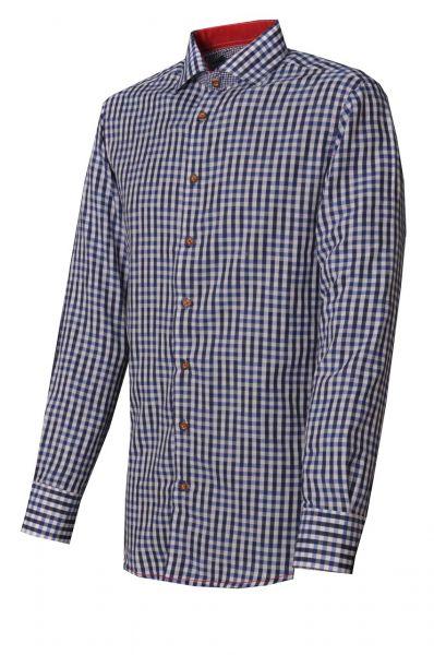 Trachtenhemd Burgthann kornblau Slim Fit Langarm OS Trachten