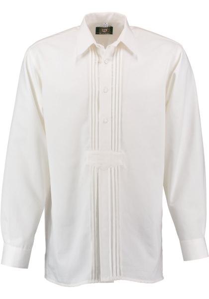 Trachtenhemd Oberkotzau weiß Langarm Schlupfform OS Trachten