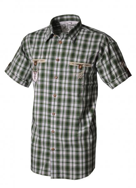 Trachtenhemd Magnus Karo Kurzarm grün OS-Trachten