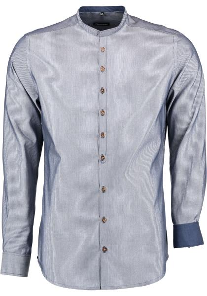 Trachtenhemd Buchschachten marine blau Body Fit Langarm OS Trachten