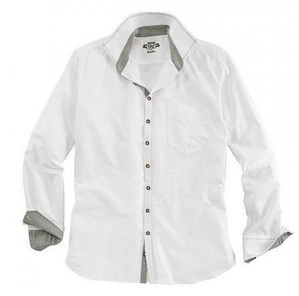 Trachtenhemd Burgau weiß lang OS Trachten
