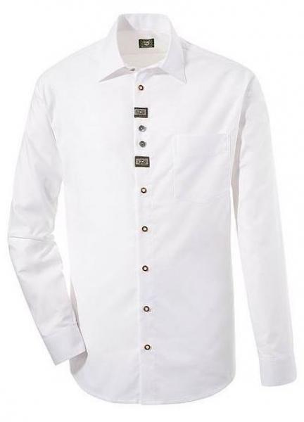 Trachtenhemd Bundorf weiß lang OS Trachten