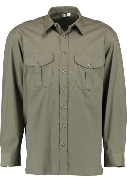 Trachtenhemd Jagdhemd Aisch trachtengrün grün OS Trachten
