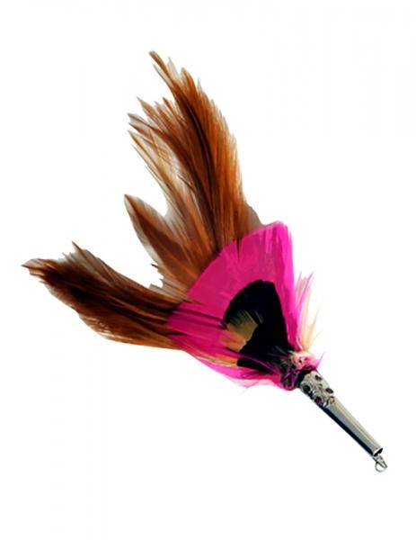 Hutfeder braun/pink