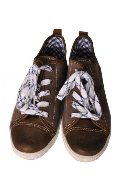 Sneaker Staven braun/blau Nubuk gespeckt Spieth & Wensky
