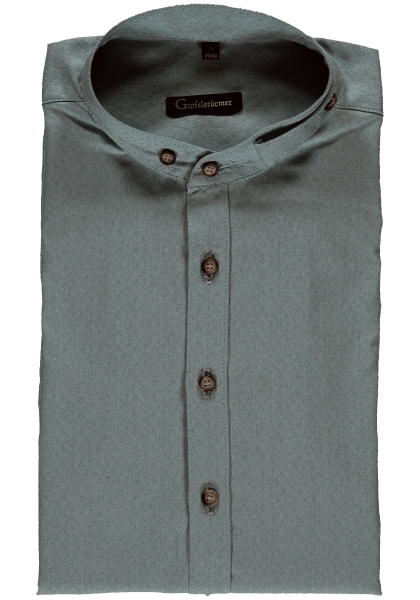Trachtenhemd Wallersodrf dunkelgrün Langarm Body Fit OS Trachten