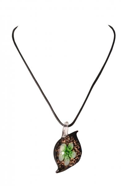 Dirndlkette Trachtenkette Trogen tropfenförmig Kunstglas grün