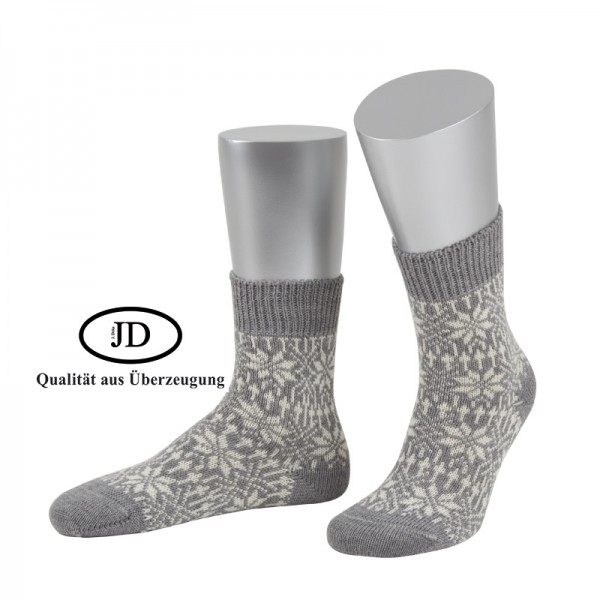 Norwegersocken Socken Marksteft hellgrau weiß JD
