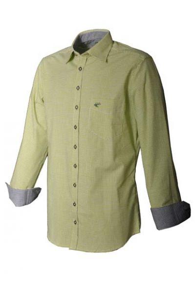 Trachtenhemd Paul grün/blau Karo Krempelarm OS Trachten