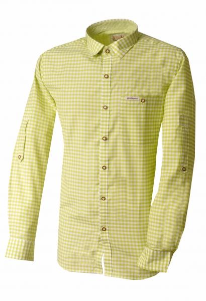 Trachtenhemd Campos3 apfel grün Comfort Fit Karo Langarm Krempelarm Stockerpoint