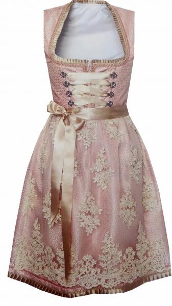 Dirndl Designerdirndl midi 58 cm Opfenbach rosa beige Bayer Madl