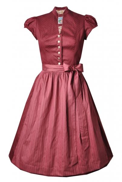 Dirndl midi 65 cm Designerdirndl Trachtenkleid Anika burgund rot Turi Landhaus