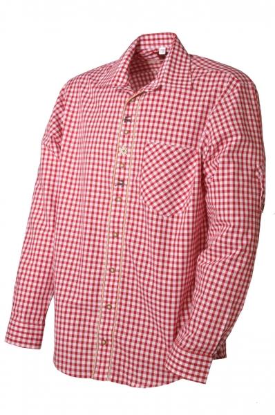 Trachtenhemd Megesheim rot/weiß OS Trachten