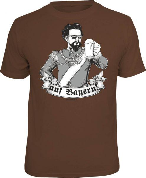 """Trachtenshirt """"Auf Bayern!"""" braun"""