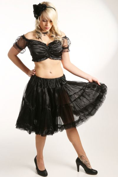 Petticoat 60 cm Daisy schwarz Fuchs