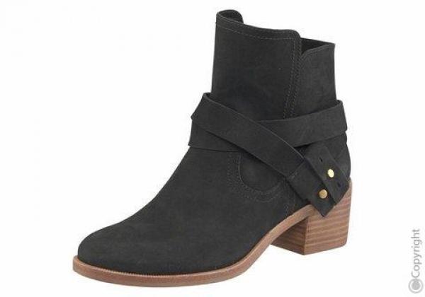Stiefelette Stiefel Elora Leder schwarz UGG Auftralia