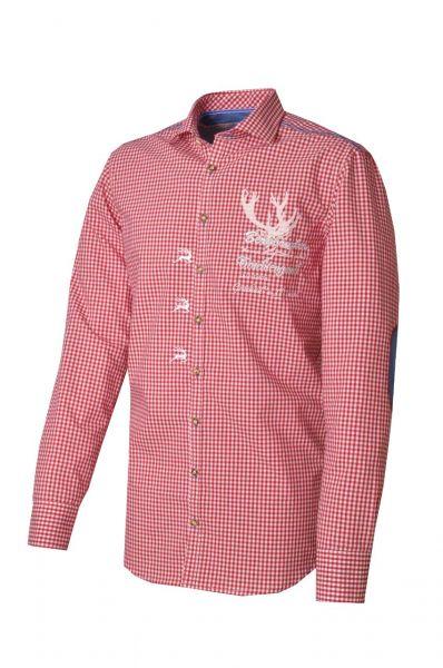 Trachtenhemd Fred rot Langarm OS-Trachten