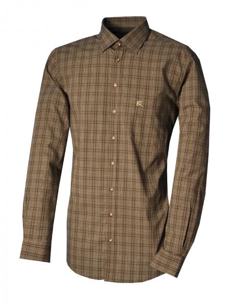 Trachtenhemd Blamberg Karo oliv grün Langarm Regular Fit OS Trachten
