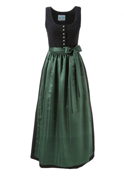 B-Ware / 2. Wahl - Dirndl lang 95 cm Designerdirndl Carolina schwarz grün Trachten Deiser