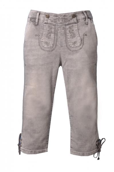 Trachtenjeans May grau Jeans-Kniebundhose Stretch Marjo