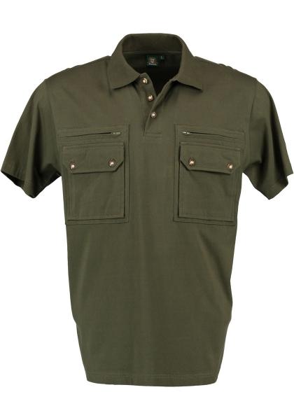 Trachtenshirt Poloshirt Poxdorf olive OS-Trachten