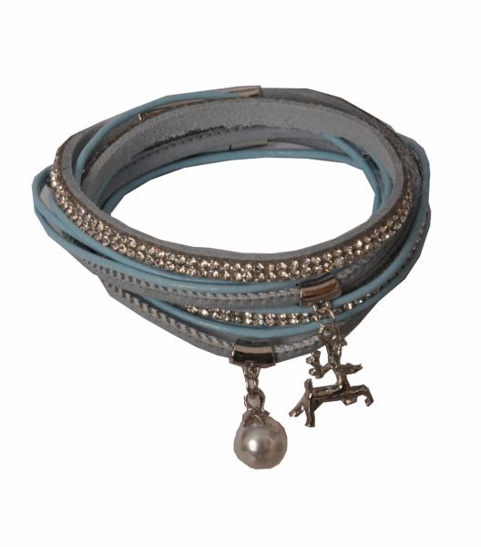 Trachten Armband Nittenau hellblau