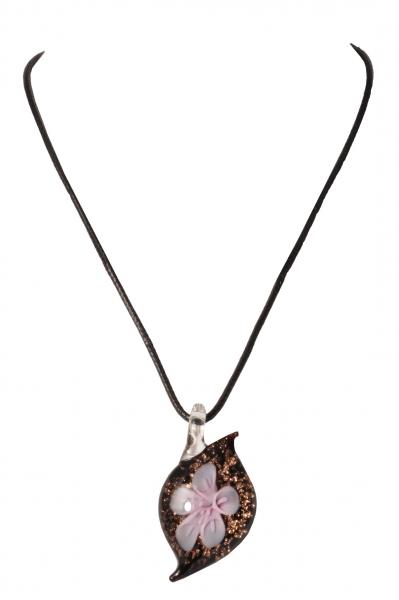 Dirndlkette Trachtenkette Trogen tropfenförmig Kunstglas lila