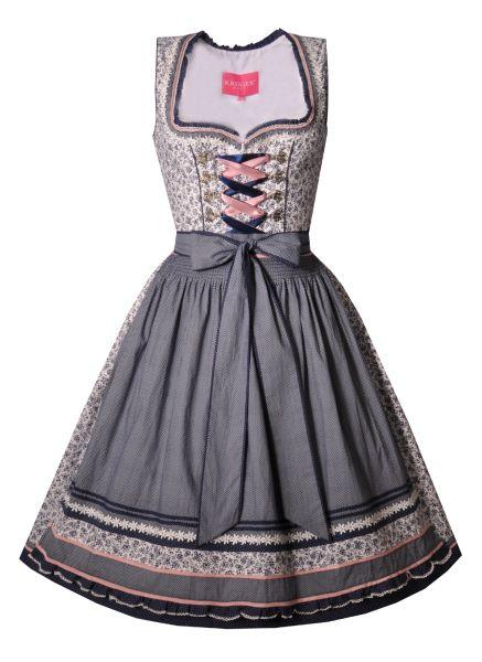 Dirndl midi 60cm Wilma blau Krüger