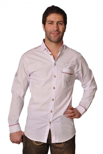 Trachtenhemd Sepp weiß OS Trachten