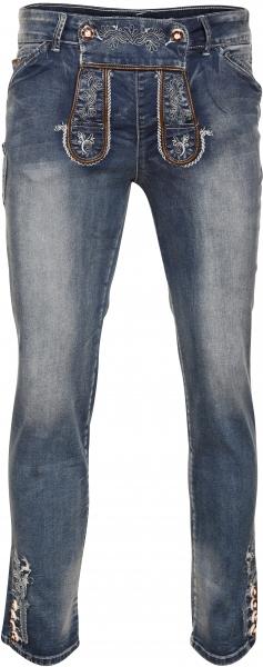 Textilhose lang Gustl Jeans blau MarJo