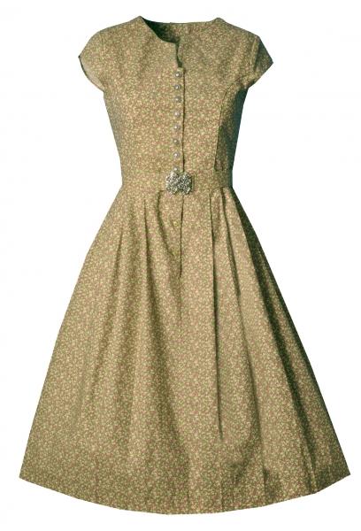 Dirndl midi 70 cm Selbitz dunkelgrün grün Trachtenkleid mit Schnalle Almsach