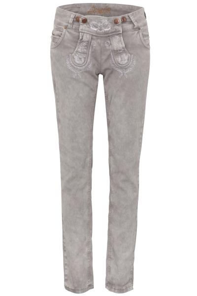 Trachtenjeans Color Jeans Classic hellgrau grau Hangowear