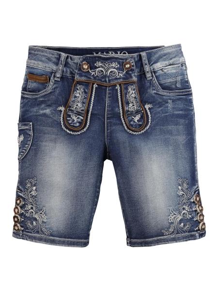 B-Ware / 2. Wahl - Trachtenjeans Franziska blau Jeans- Bermuda Marjo