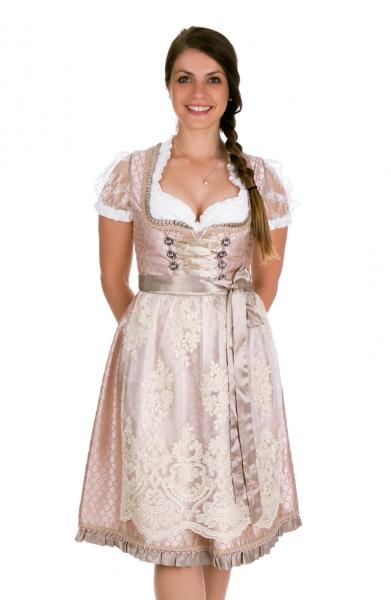 Dirndl Designerdirndl midi 64 cm Kirchlauter beige rosa Bayer Madl